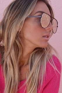 High Key Gunmetal Rose Sunglasses