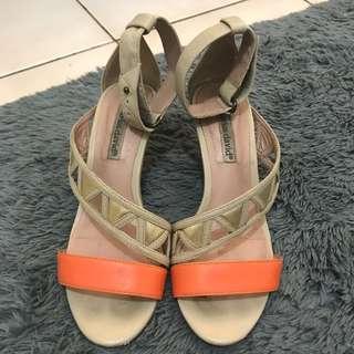 Charles David Leather Strap Sandals Heels