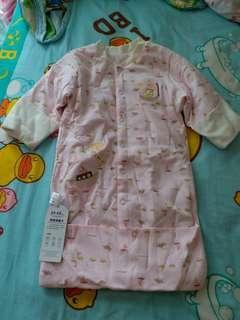 全新衫生bb 粉紅包腳睡袋 袖部份可做埋手套