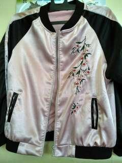 Jaket bomber silk