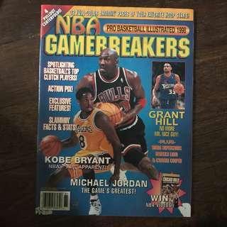 nba gamebreakers - pro basketball illustrated 1998 magazine