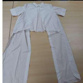 Zara Long Back Pleated Shirt