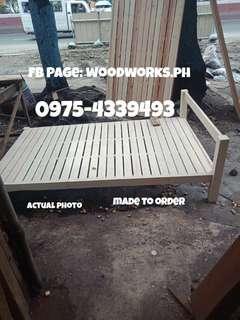 Wooden Bedframe 36x75