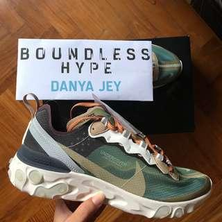 🚚 US 8.5 UNDERCOVER x Nike React Element 87 Green Mist