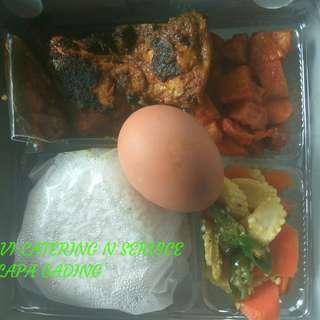 Nasi kotak nasi box ayam bakar bumbu