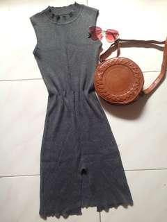 Bodycon Dress Gray color