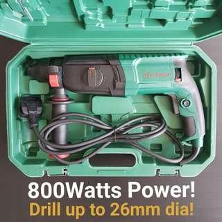800Watts Zhongtai Electric Rotary Hammer Drill Professional. An Essential And Economical Tool For Your Diy Project