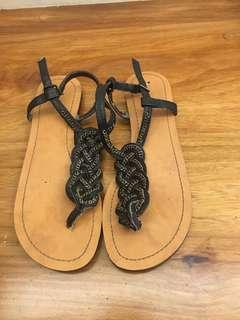NINE WEST chain Sandals
