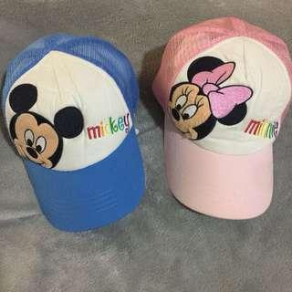 🚚 香港迪士尼 米奇、米妮 棒球帽(適合3-12歲)