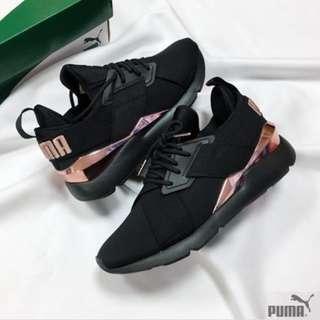 (In stocks) Puma Womens Muse Black / Metallic Rose Gold