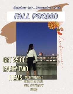 FALL PROMO (OCTOBER 1ST- NOVEMBER 24TH)