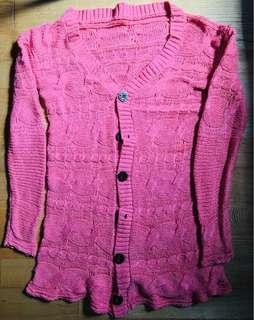 🚚 粉紅色毛衣外套
