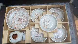 Japanese Tea set and plates