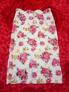 Flower brukat skirt