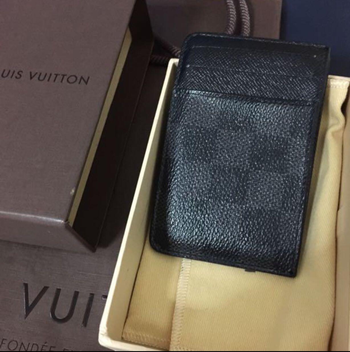 ece2c3693ec5 100% authentic Louis Vuitton Damier graphite neo Porte card holder ...