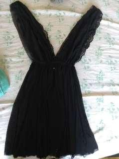 H&M new lace black babydoll