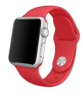 """Instock """"Huat"""" Apple Iwatch silicone strap red"""