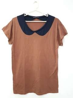 SALE! Brown shirt with built-in collar