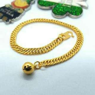 Gelang tangan kanak emas 916