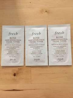 Fresh Rose Deep Hydration Facial Toner Mini Set