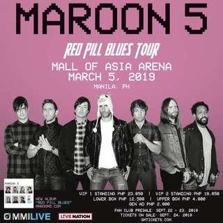 LOOKING FOR 2 UPPERBOX TICKETS FOR MAROON 5 2019
