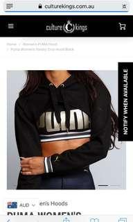 Puma cropped jumper