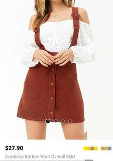 Authentic Forever 21 Button-front Skirt