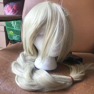 Long blonde pale wig 80cm cosplay yellow Elsa