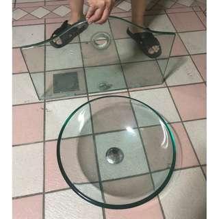 降價!!玻璃洗手槽組合!!