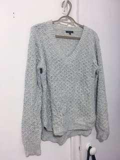 RW & CO. Light Grey Knit Sweater (Sz L)