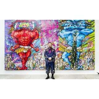 日本藝術家 村上隆版畫【赤鬼青鬼羅漢簽名編號300版畫 限定絕版】