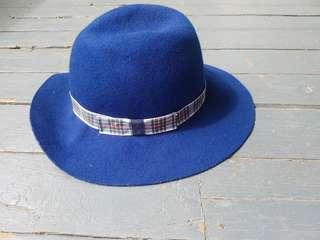 blue Burberry hat