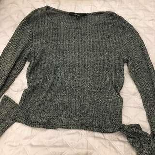 New Look Salt Pepper Speckled Knitted Top