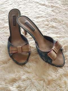 LV blue heels