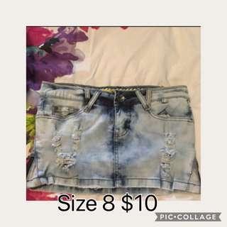 Size 8 denim skirt