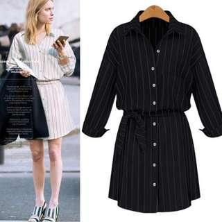 Stripe Casual Dress