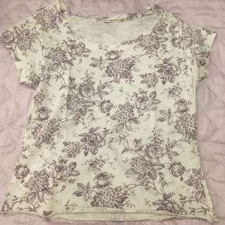 Rustic Floral Graphic Top