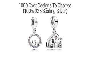 Over 1000 Designs (925 Sterling Silver) To Choose From, Compatible With Pandora, T167