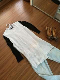 Cotton on knit grey long top