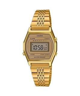 Bn Casio Ladies Gold Tone Digital Watch LA690WGA-9D