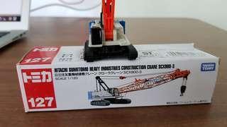 Tomica no 127 Hitachi Sumitomo Heavy Industries Construction Crane SCX900-3