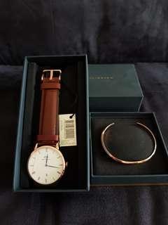 Daniel wellington watch and cuff set
