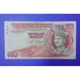 JanJun $10 Siri 5 PB 2495214 5th Aziz Taha 1982 RM10 Duit Lama