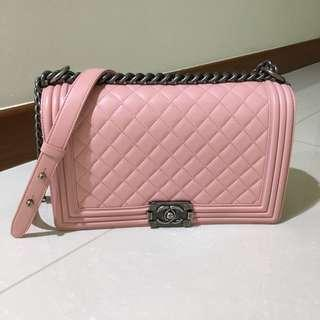 Chanel boy in pink