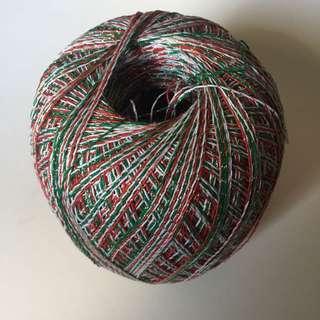 Christmas coloured string