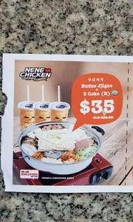 Nene Chicken (1 Budae Jjigae + 3 cokes)