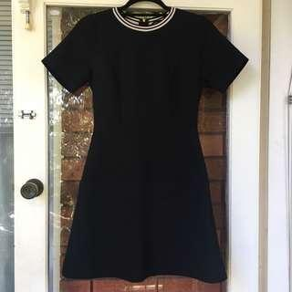 Oxford dress with rose gold zipper
