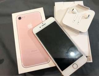 Apple iPhone 7 4.7 玫瑰金 32g 台北面交
