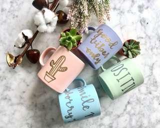 Handwritten Personalised mugs
