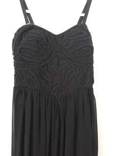 Black long dress - maxi